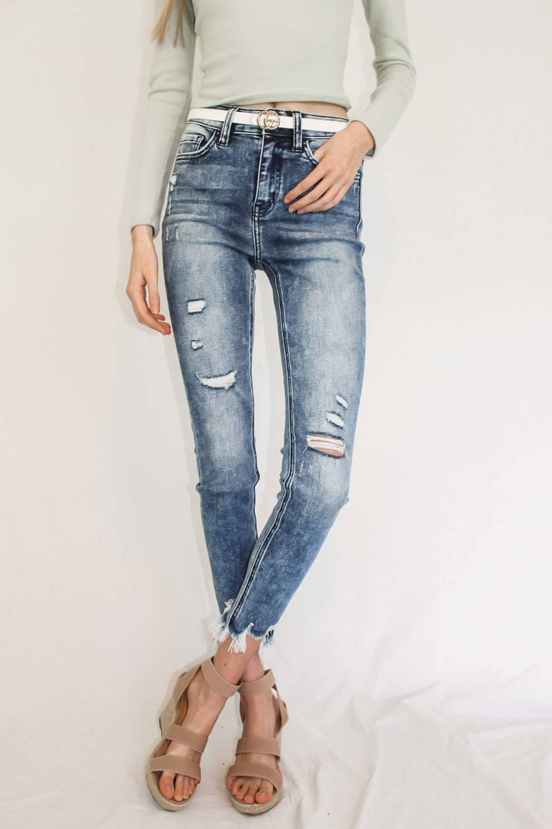 Rhythm of The NIght Frey Hem Jeans - Hollie's Boutique