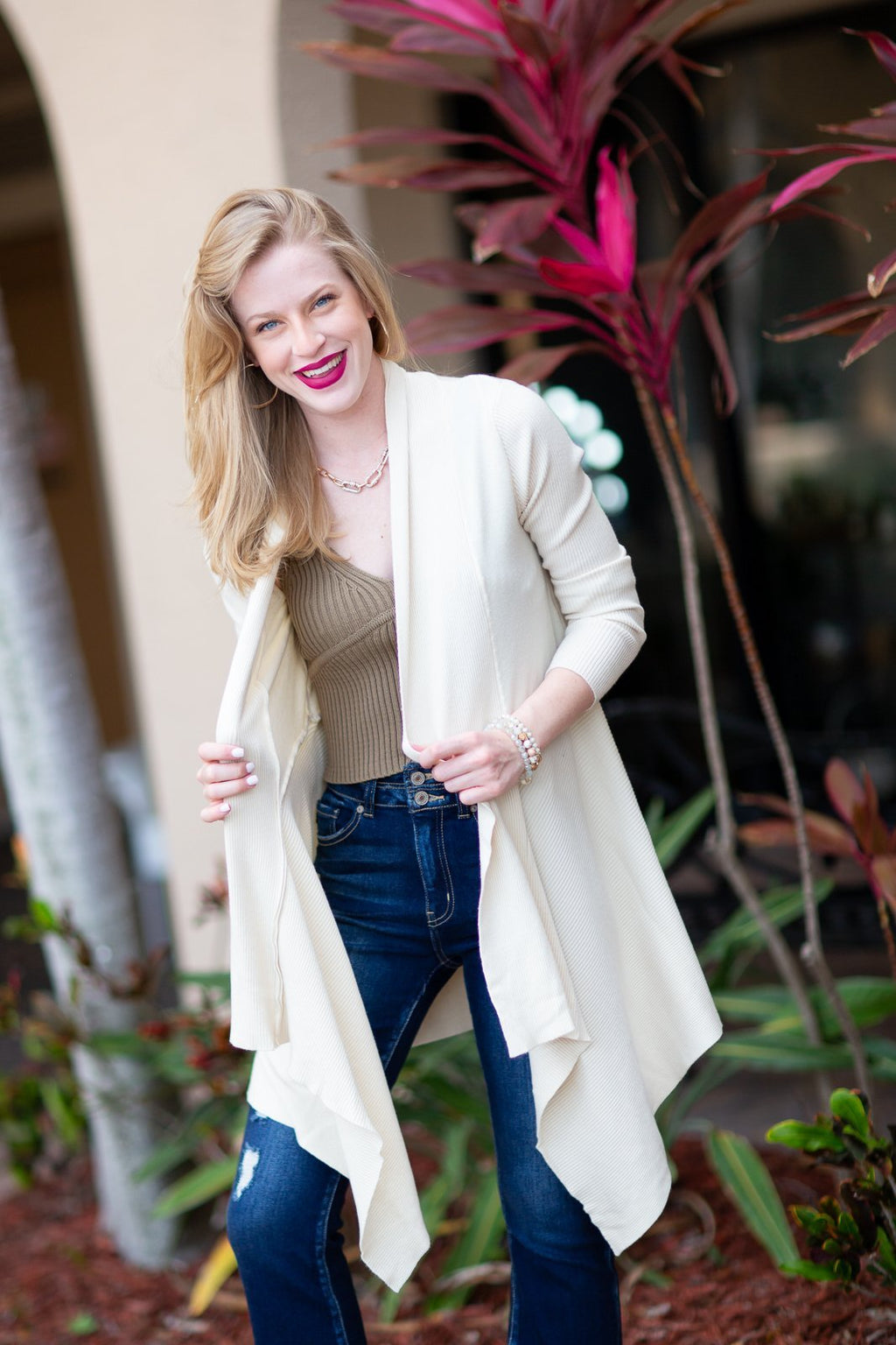 Something Real Knit Cardigan - Hollie's Boutique