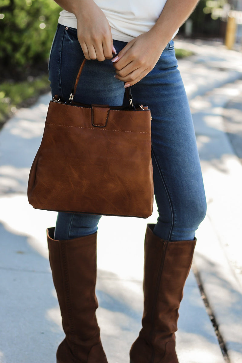 Tati Hobo Bag In Brown - Hollie's Boutique