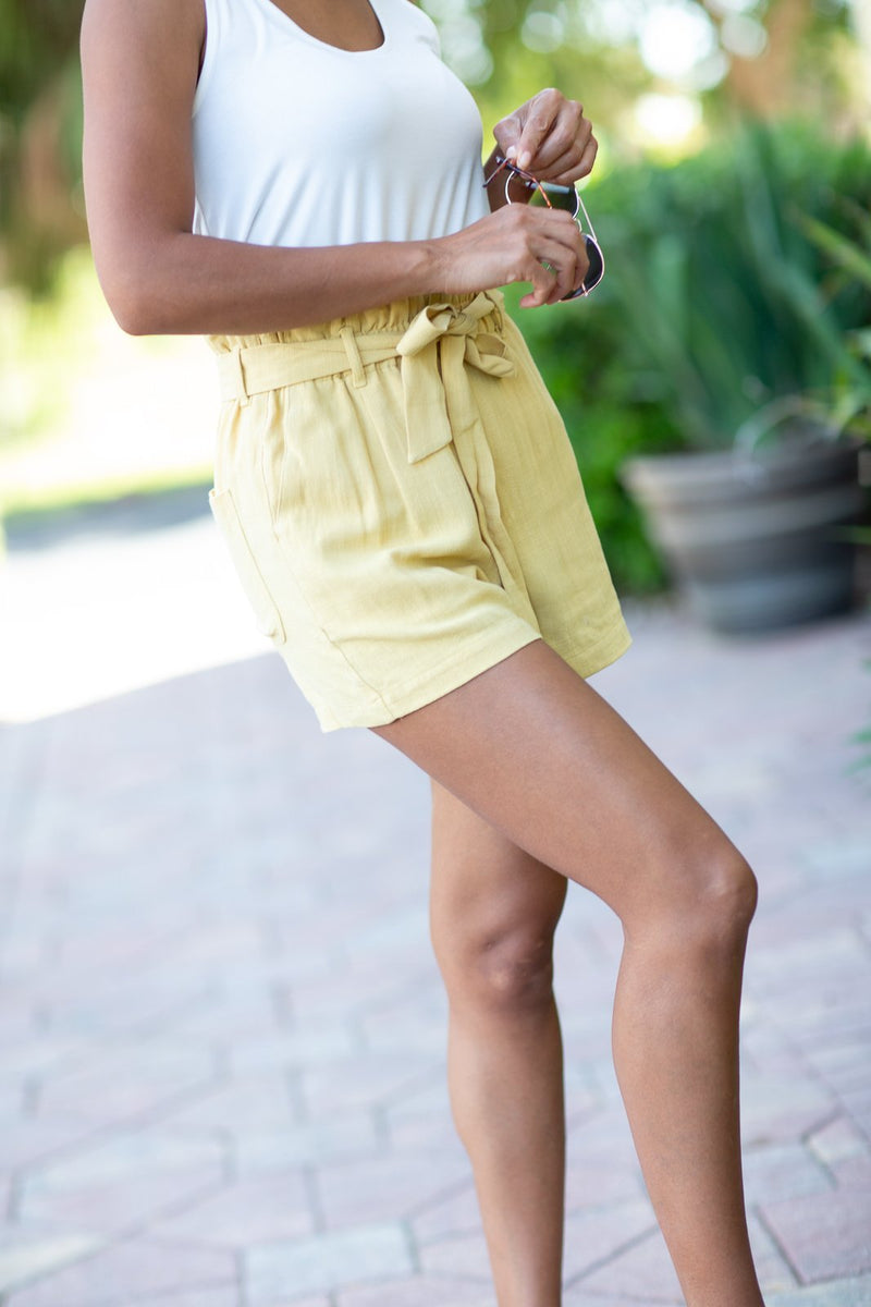 The Only One Bright Linen Shorts - Hollie's Boutique