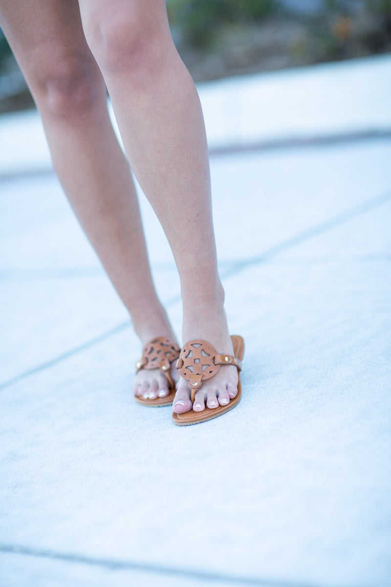Tory Burchish Sandals - Hollie's Boutique