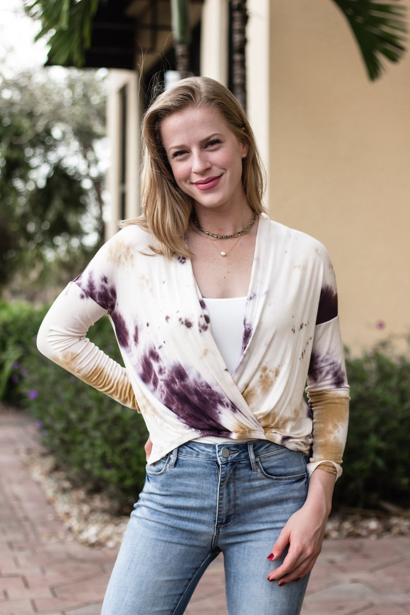 Use Your Voice Tie Dye Top - Hollie's Boutique