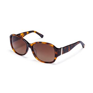 Honey Tortoise with Polarized Gradient Brown Mirror Lens