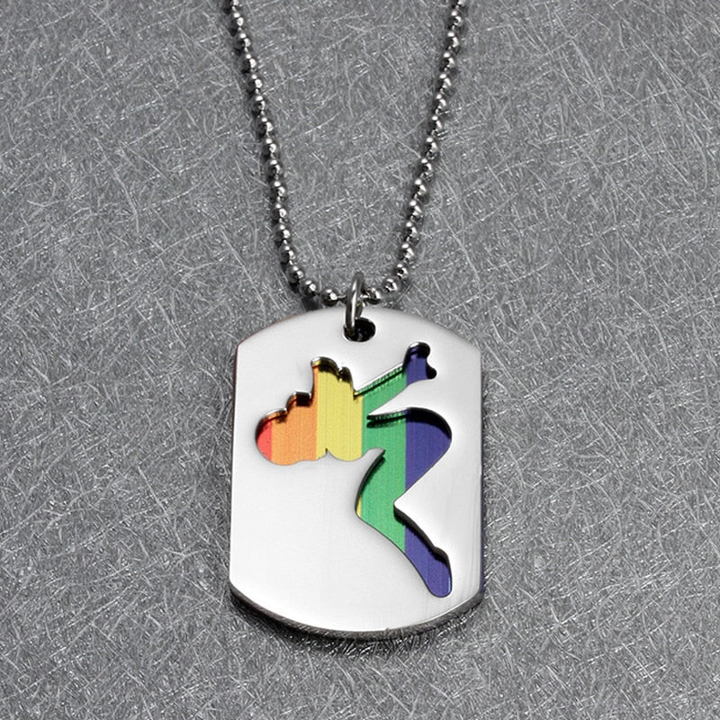 LGBT Pride Rainbow Pendant Chain Necklace