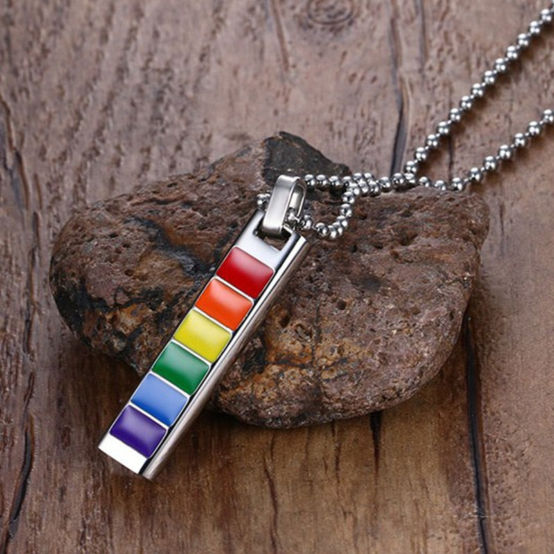Stainless Steel Rainbow Necklace