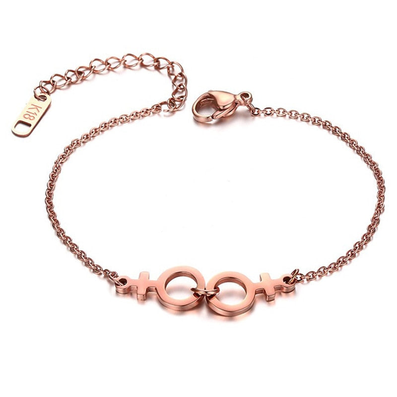 Gay Hand Chain Bracelets Rose Gold