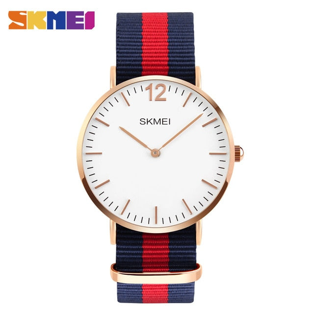 SKMEI Lovers Quartz Waterproof Simple Ultra-thin Design Wrist Watch