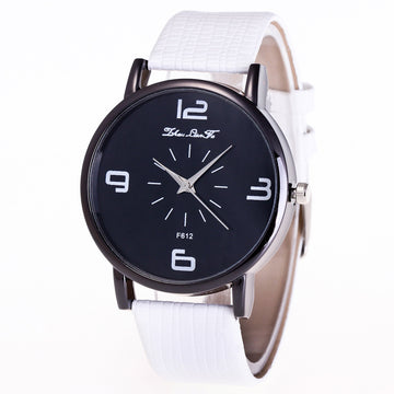Quartz Wrist Watch Leather Band Casual Dress Watch