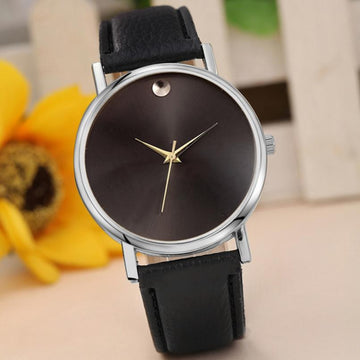 PU Leather Simple Casual Quartz Wrist Watch