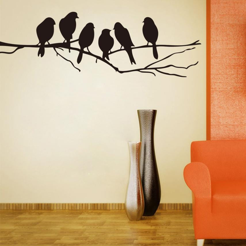 Wall stickers Decal Removable Black Bird Tree Branch