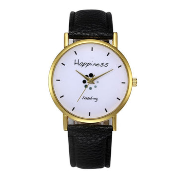 Faux Leather Clock Analog Quartz Wrist Watches