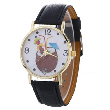 Leather Band Wrist Watch Bracelet Watches