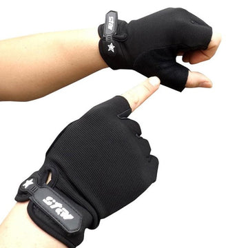 Cycling Gloves Half Finger Bicycle Gloves Non-slip Anti-skid Soft Breathable Cycling Mittens Fitness Sports