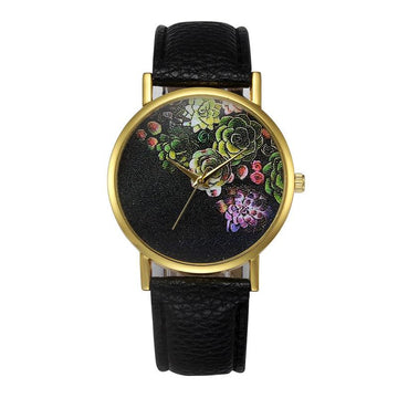 Quartz Watch Retro PU Leather Band Quartz Wrist Watches