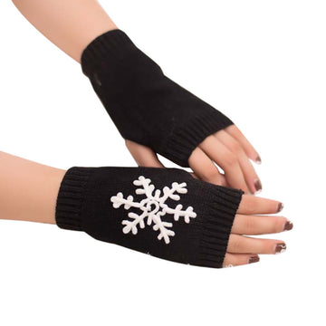Knitted Arm Fingerless Warm Winter Gloves Soft Warm Mitten