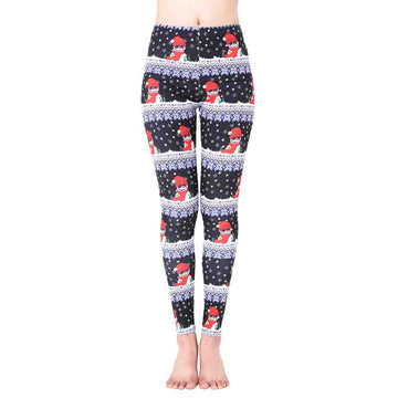 Santa Claus Sports Gym Yoga Running Fitness Leggings Pants