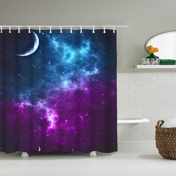 Fabric Shower Curtains Scene Universe View