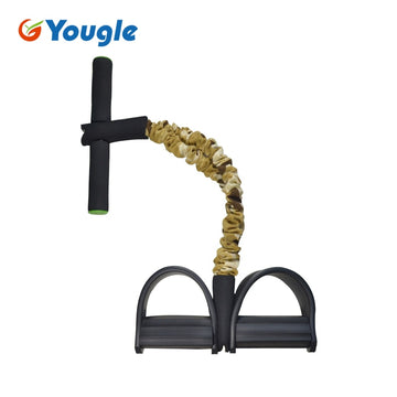 Leg Training Device CAMO Stretch Resistance Thin Pedal spring Exerciser Rally Rope Yoga Gym Fitness Exercise Equipment Sit-ups