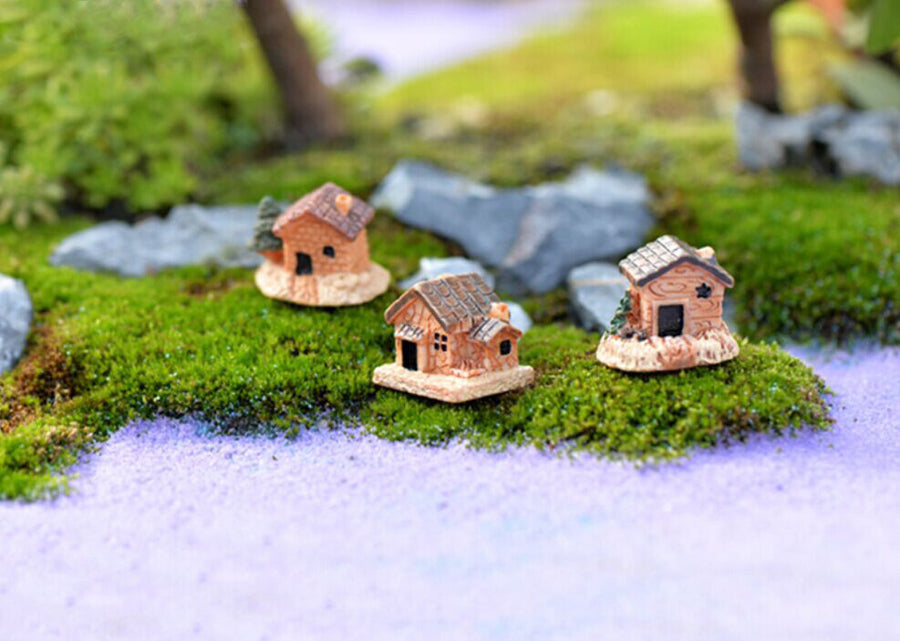 Mini Dollhouse Stone House Resin Decorations For Home And Garden DIY