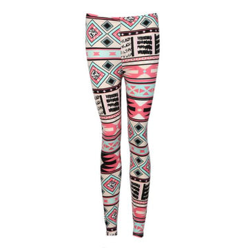Elasticity Skinny Tribal Printed Leggings