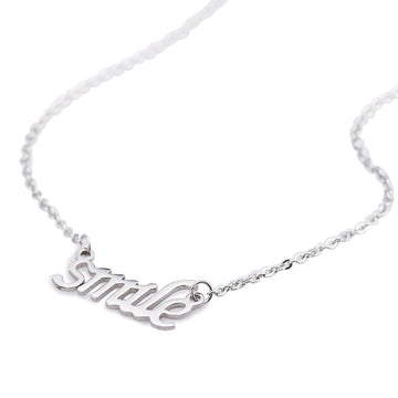 Fashion Stainless Steel Letters Pendant Necklace