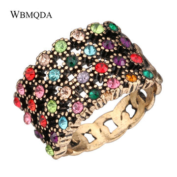 Vintage Colorful Crystal Chain LGBT Ring
