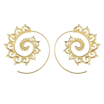 1 Pair of Fashion Spiral Alloy Dangle Earring