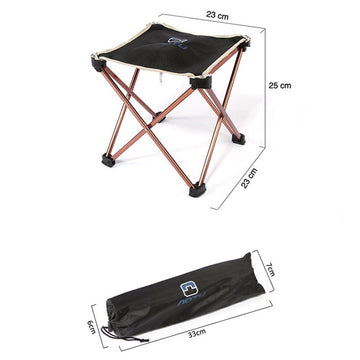 Aluminum Alloy Foldable Outdoor Chair Picnic BBQ Stool for Camping Fishing