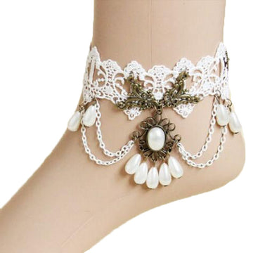 Delicate  White Pearl Anklet