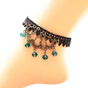 Playful Turquoise Raindrop Anklet