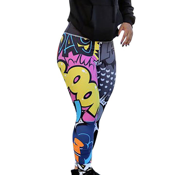 Print Workout Leggings Fitness Sports Gym Running Yoga Athletic Pants