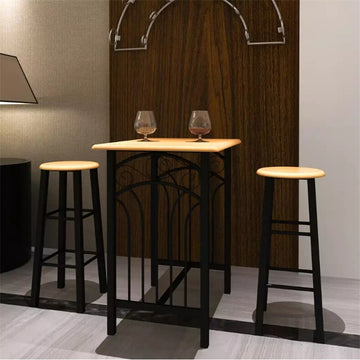 Breakfast/Dinner Table Dining Set MDF With Black Home Furniture