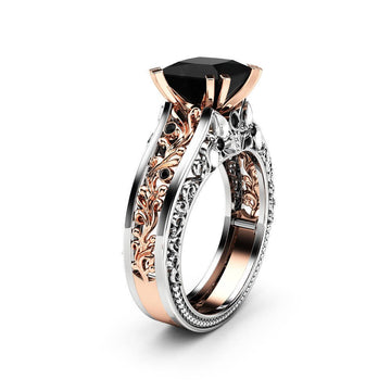Color Separation Rose Gold Floral Ring