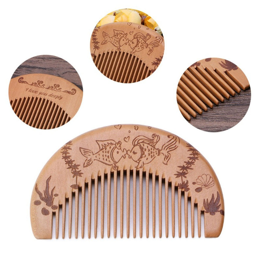 Wooden Hair Comb Beard Comb Anti-static