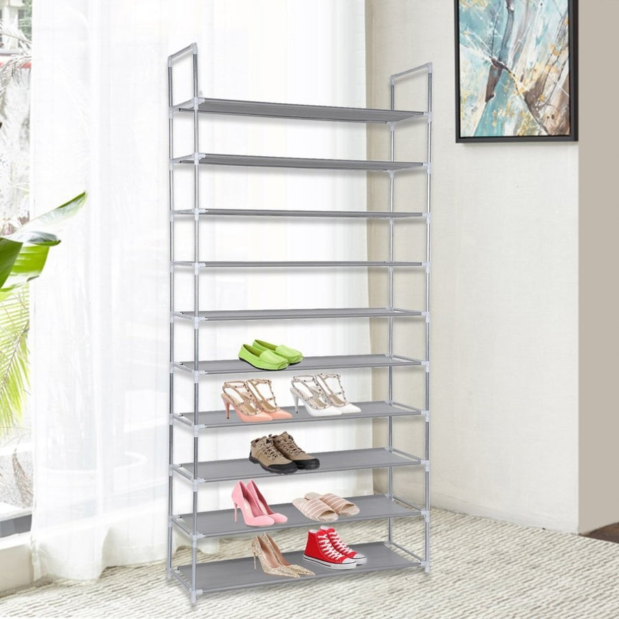 Capacity 50 Pair 10 Tier Shoes Storage