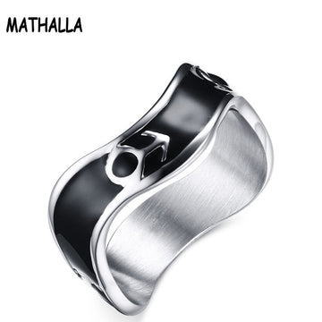 Stainless Steel Symbol Pattern Ring