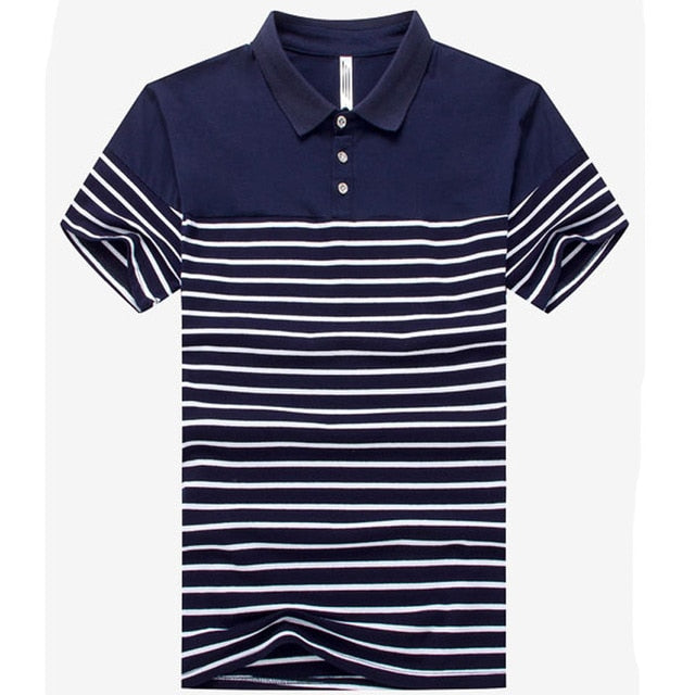 Gay Bi Trans Summer Striped Breathable Polo Shirt Popular Casual