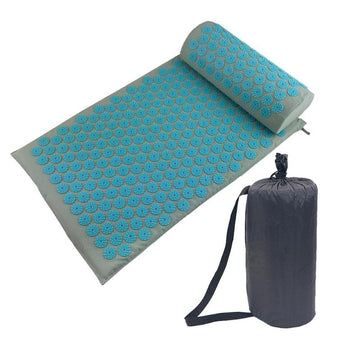 Acupressure Massager Cushion Shakti Mat Set Back Body Pain Relieve Spike Mat  Yoga Mat with Pillow Acupuncture Massage Mat