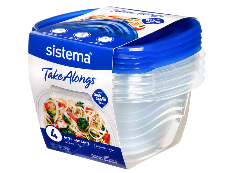 Sistema Sistema TakeAlongs - 1.2L Medium Deep Square 4 Pack South Africa