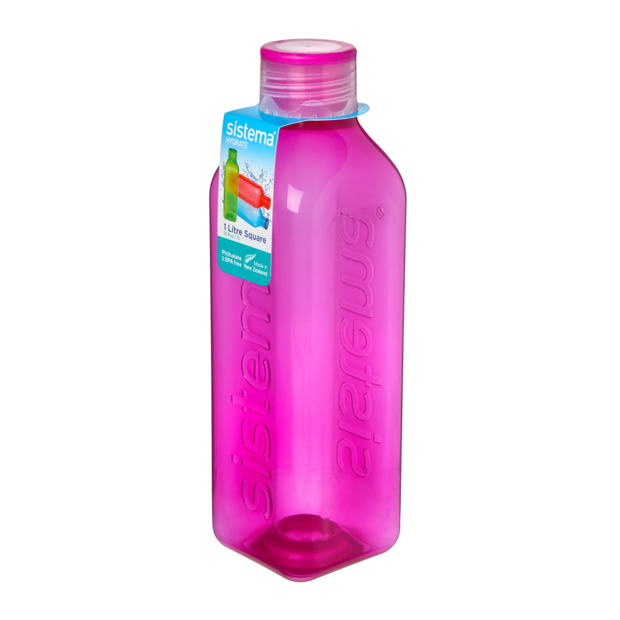 1L Large Square Bottle