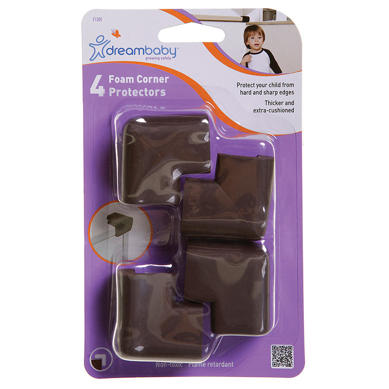 Dreambaby Foam Corner Cushions - Brown