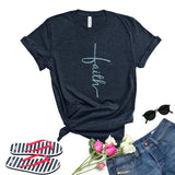 T-shirt Faith en Croix