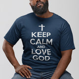 T-shirt Homme Keep Calm And Love God