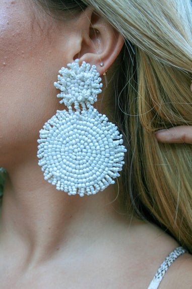 Beaded Double Earrings