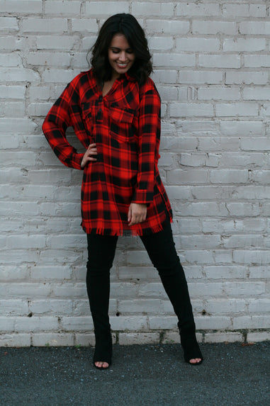 It's All For Plaid Tunic