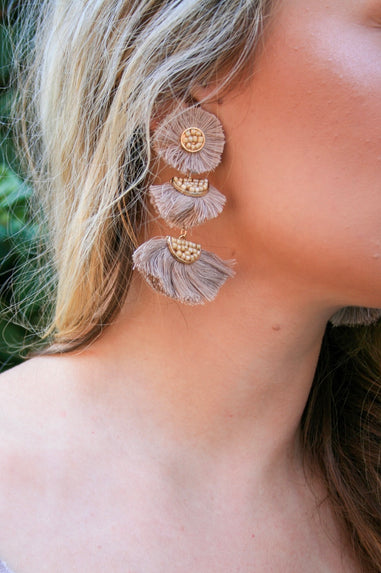 Perfect for Now Earrings - Taupe