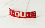 Large Hair Barrette Oklahoma Sooners-Red