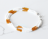 The Quartet Bracelet- White/Gold