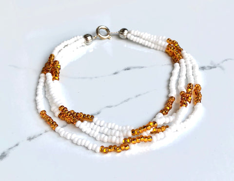 The Quartet Bracelet- White Gold