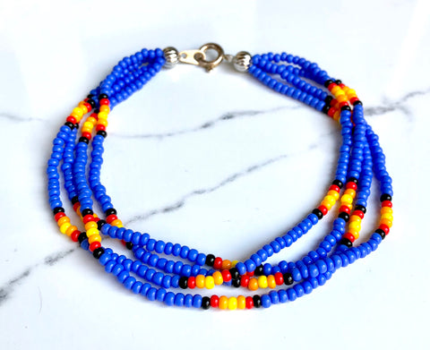 The Quartet Bracelet- Native Blue